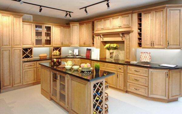 wood kitchen furniture. Ginger Glaze Wood Kitchen Furniture